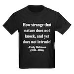 Emily Dickinson 18 Kids Dark T-Shirt