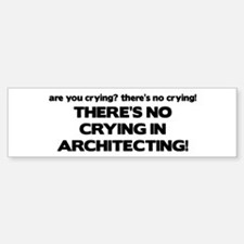 There's No Crying in Architecting Bumper Bumper Bumper Sticker
