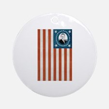 Obama Flag Ornament (Round)