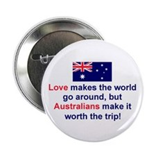 "Love Australians 2.25"" Button"