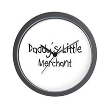Daddy's Little Merchant Wall Clock