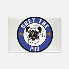 Obey The Pug Rectangle Magnet