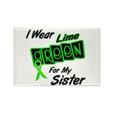 I Wear Lime Green For My Sister 8 Rectangle Magnet