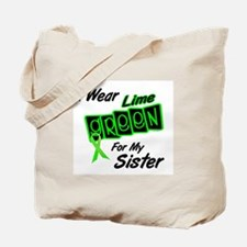 I Wear Lime Green For My Sister 8 Tote Bag