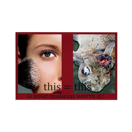 Makeup Test Rectangle Magnet (100 pack)