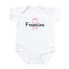 Francine pink ribbon Infant Bodysuit