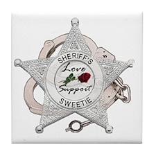 Sheriff's Sweetie Tile Coaster