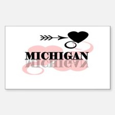 Michigan Rectangle Sticker 50 pk)