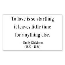 Emily Dickinson 17 Rectangle Decal
