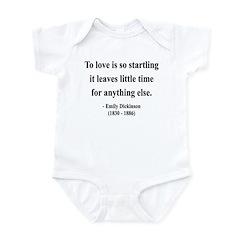 Emily Dickinson 17 Infant Bodysuit