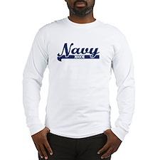 Collegiate Navy Mom II Long Sleeve T-Shirt