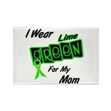 I Wear Lime Green For My Mom 8 Rectangle Magnet (1