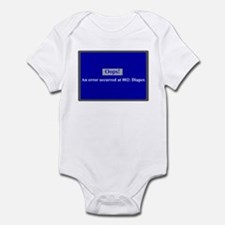 Blue Screen Error Infant Bodysuit