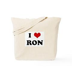 I Love RON Tote Bag
