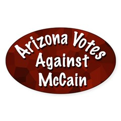 Arizona Votes Against McCain Oval Decal