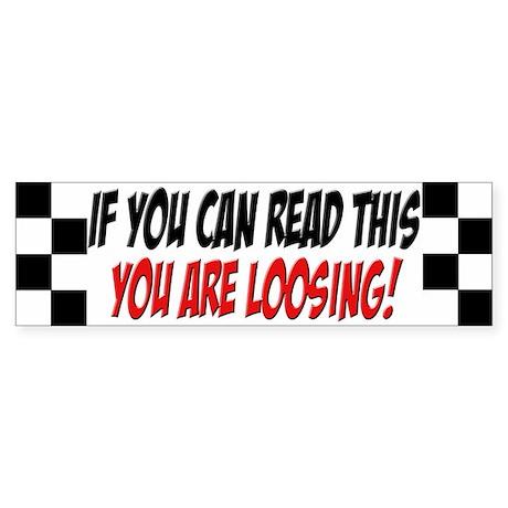 Street Racing Car Bumper Sticker