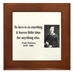 Emily Dickinson 17 Framed Tile