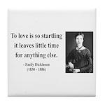 Emily Dickinson 17 Tile Coaster