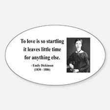 Emily Dickinson 17 Oval Decal