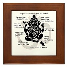 """Ganesh 101"" Framed Tile"