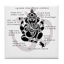 """Ganesh 101"" Tile Coaster"