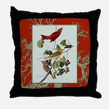 Stunning Audubon Summer Tanager Throw Pillow