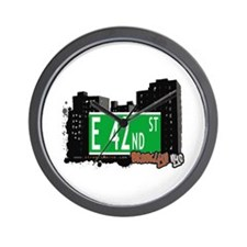 E 42nd STREET, BROOKLYN, NYC Wall Clock