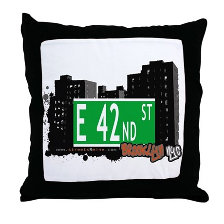 E 42nd STREET, BROOKLYN, NYC Throw Pillow
