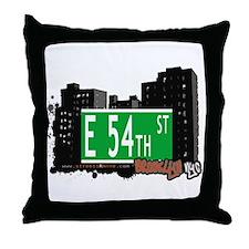 E 54th STREET, BROOKLYN, NYC Throw Pillow