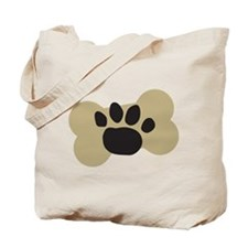 Dog Lover Paw Print Tote Bag
