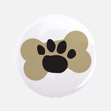 "Dog Lover Paw Print 3.5"" Button"