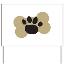 Dog Lover Paw Print Yard Sign