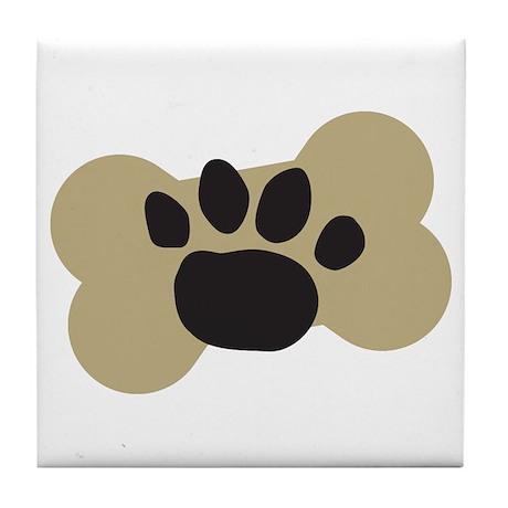 Dog Lover Paw Print Tile Coaster