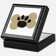 Dog Lover Paw Print Keepsake Box