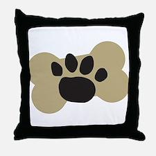 Dog Lover Paw Print Throw Pillow