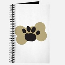 Dog Lover Paw Print Journal