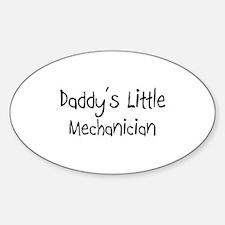 Daddy's Little Mechanician Oval Decal