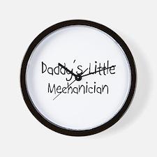 Daddy's Little Mechanician Wall Clock