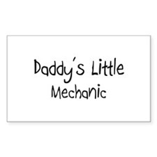 Daddy's Little Mechanic Rectangle Decal