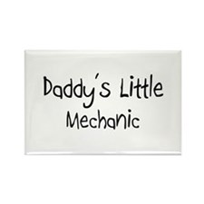 Daddy's Little Mechanic Rectangle Magnet