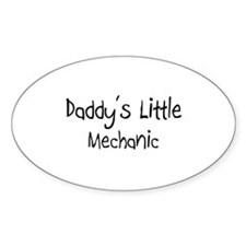 Daddy's Little Mechanic Oval Decal
