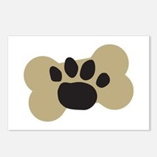 Dog Lover Paw Print Postcards (Package of 8)