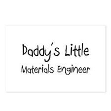 Daddy's Little Materials Engineer Postcards (Packa