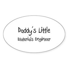 Daddy's Little Materials Engineer Oval Decal