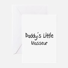 Daddy's Little Masseur Greeting Cards (Pk of 10)