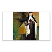 St Teresa of Avila Rectangle Decal