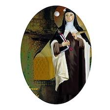 St Teresa of Avila Oval Ornament