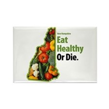 NH Eat Healthy Or Die Rectangle Magnet (100 pack)
