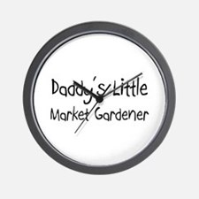 Daddy's Little Market Gardener Wall Clock