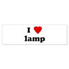 I Love lamp Bumper Sticker (10 pk)